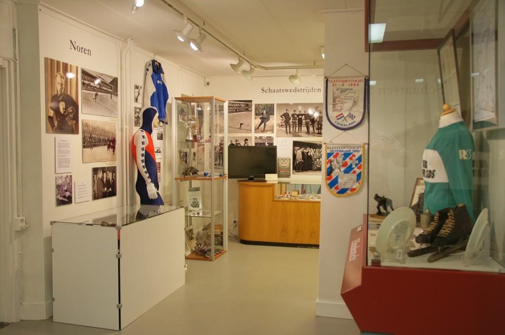 een blik op de tentoonstelling