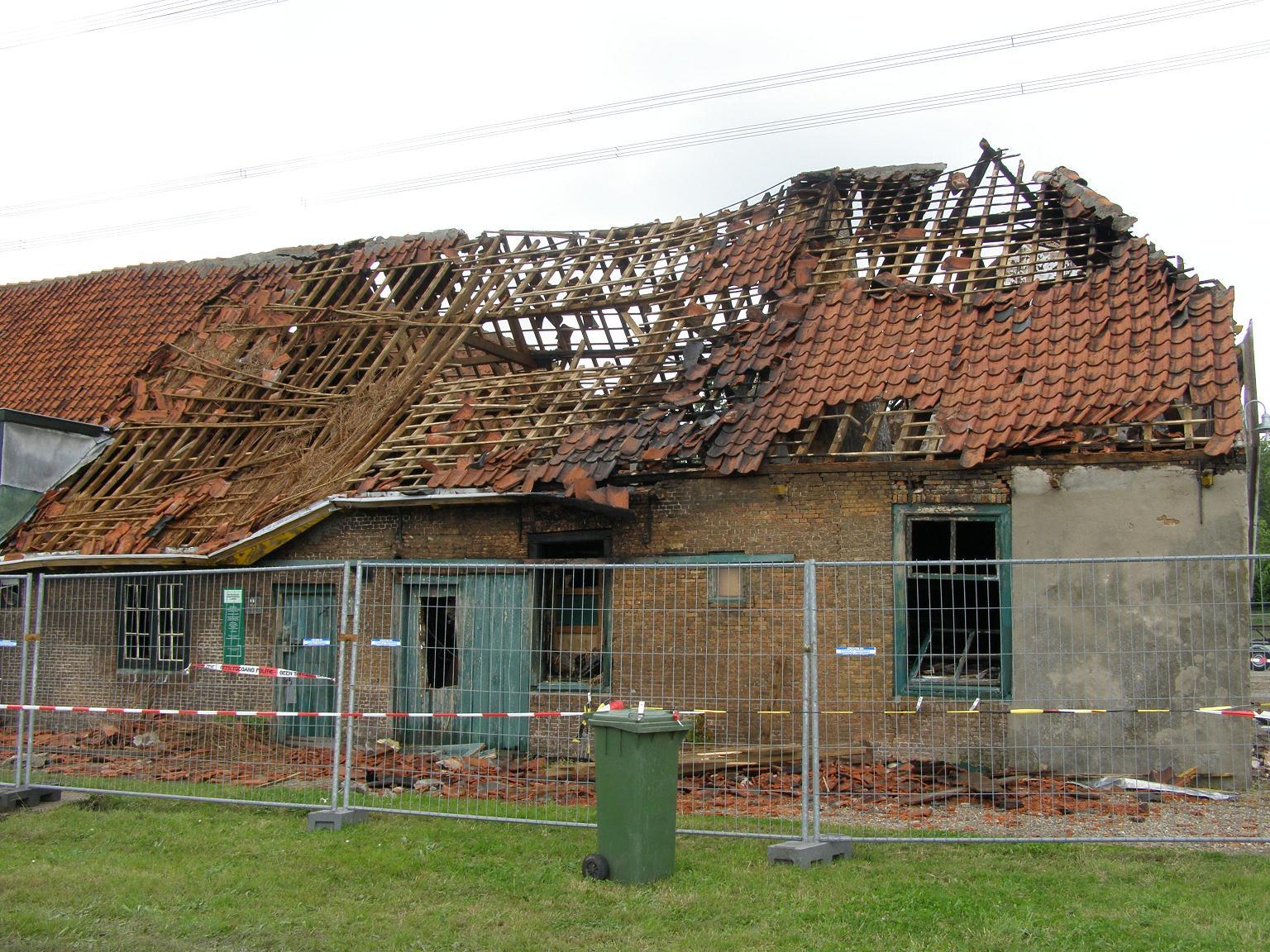 De Vlietwoning - na de brand in 2009